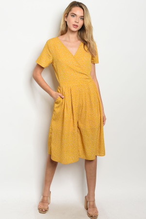 S21-9-1-J3446 MUSTARD WITH DOTS JUMPSUIT 2-1-1