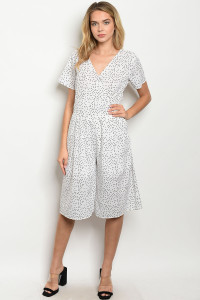 S14-2-3-J3366 WHITE WITH DOTS JUMPSUIT 2-2-2
