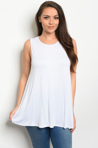 S18-1-4-T12807X WHITE PLUS SIZE TOP 3-2-1