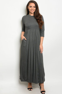 S14-5-2-D5185X GREY PLUS SIZE DRESS 2-2-2