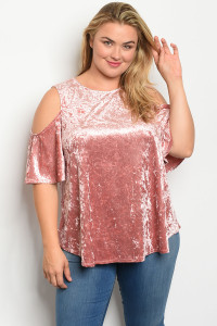 C95-B-3-T12493X MAUVE SWAY PLUS SIZE TOP 2-2-2