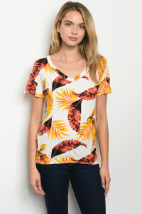 C26-B-6-T6662 IVORY ORANGE W/ LEAVES TOP 2-2-2-1