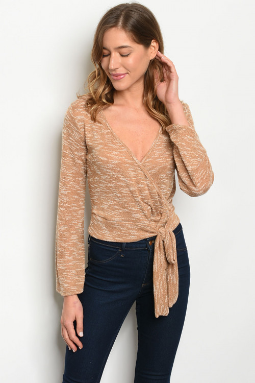 C20-A-1-T9145 TAUPE TOP 2-2-2