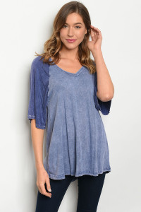 C26-B-3-T5982 BLUE WASHED TOP 3-2-1