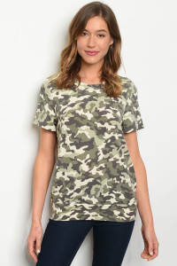 C44-B-2-T10172 GREEN CAMOUFLAGE TOP 3-2-1