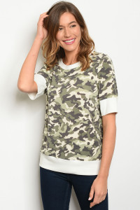 C47-B-5-T10154 IVORY CAMOUFLAGE TOP 3-2-1