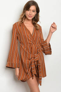 S13-5-5-T1645 CAMEL STRIPES DRESS 3-2-1
