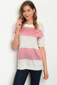 S13-10-4-T2173 IVORY PINK TOP 3-2-1