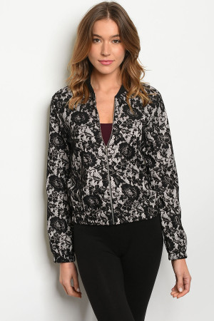 C7-B-2-J8978 BLACK TAUPE JACKET 2-2-2