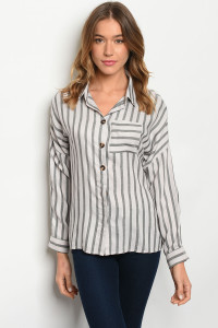 S12-2-4-T7615 GRAY STRIPES TOP 2-2-2