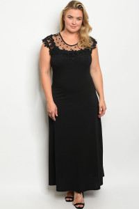 C77-A-5-D6816X BLACK PLUS SIZE DRESS 2-2-2