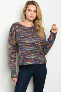 S21-8-3-S2892 MULTI SWEATER 3-2-2
