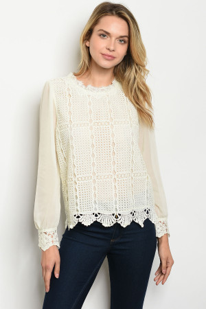 S12-10-4-T9352 IVORY TOP 2-2-2