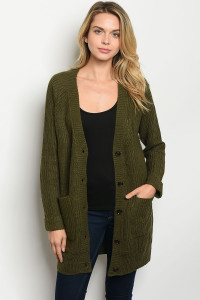 S21-8-3-S2802 OLIVE SWEATER 3-1-1