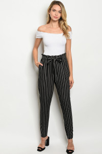 S22-4-3-P8220 BLACK STRIPES PANTS 2-2-2