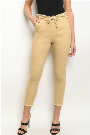 S18-5-2-P53329 TAUPE PANTS 1-2-2-1