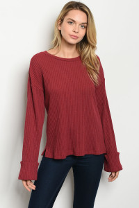 S13-1-4-T14276 BURGUNDY TOP 2-2-2