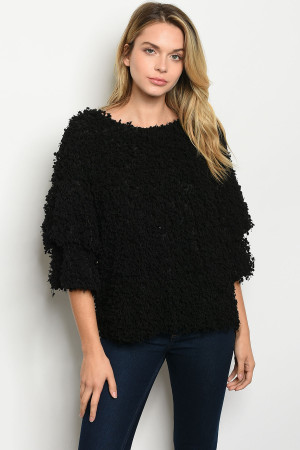 S21-6-1-T14332 BLACK SWEATER 2-2-2