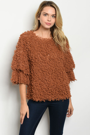 S21-5-1-T14332 RUST SWEATER 2-2-2
