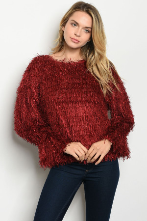 S22-2-1-T14353 WINE SWEATER 2-2-2