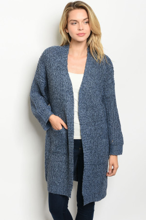 S9-20-1-C7012 METAL BLUE CARDIGAN 4PCS