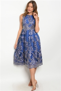 S11-12-2-D2764 BLUE GOLD DRESS 2-2-2