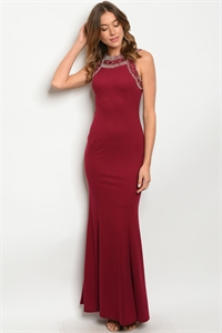 S11-10-2-D2812 MAGENTA WITH STUDS DRESS 2-2-2  ***WARNING: California Proposition 65***