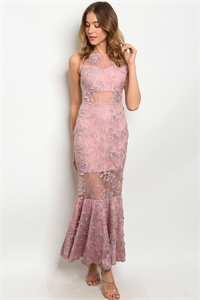 S14-5-5-D2679 BLUSH DRESS 2-2-2 ***WARNING: California Proposition 65***