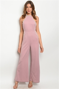 S8-10-2-J2098 MAUVE WITH PEARLS JUMPSUIT 2-2-2 ***WARNING: California Proposition 65***