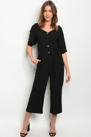 S8-13-2-J6112 BLACK JUMPSUIT 2-2-2
