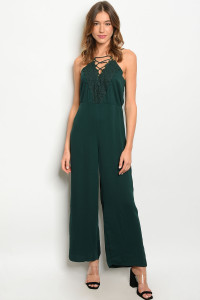 S5-7-4-J3008 GREEN JUMPSUIT 2-2-2