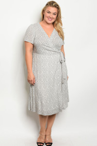 S11-15-2-D6583X OFF WHITE GTRAY PLUS SIZE DRESS 1-2-2-1