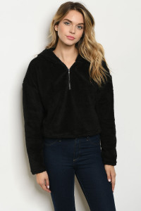 S18-11-1-S20727 BLACK SWEATER / 3PCS