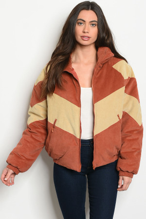 S9-1-1-J20739 RUST CREAM JACKET 2-2-2