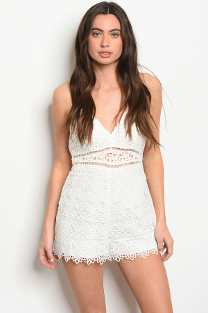S14-4-2-R20780 OFF WHITE ROMPER 3-2-1