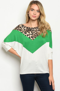 C23-A-2-T51346A GREEN IVORY TOP 2-2-2