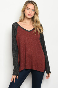 S2-7-5-T88132 WINE CHARCOAL TOP 2-2-2