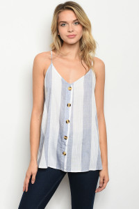 C70-B-4-T51341 WHITE BLUE STRIPES TOP 1-2-2-2