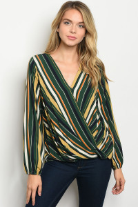 S9-6-3-T7254 GREEN MULTI TOP 2-2-2