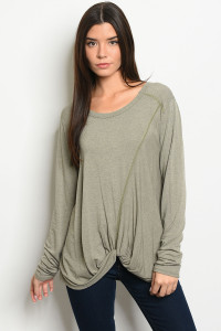 S34-B-6-T8291 OLIVE TOP 2-2-2