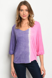 C66-B-2-T362 PINK PURPLE TOP 3-2-1