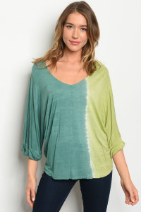 C66-B-2-T362 LIME GREEN TOP 3-2-1