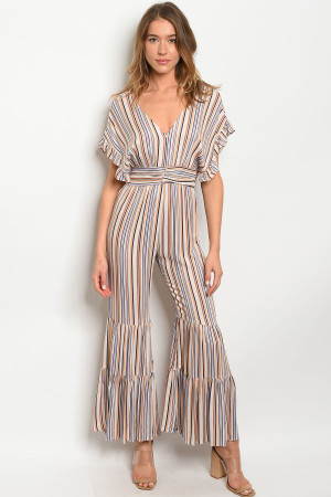 S11-16-1-J1905 MULTI STRIPES JUMPSUIT 3-2-1