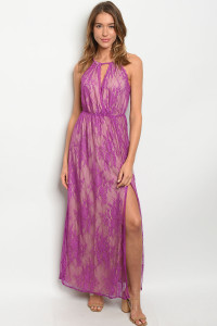 S19-6-2-D1900 PURPLE NUDE DRESS 3-2-1