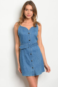 S10-11-4-D82399 BLUE DENIM DRESS 3-2-1