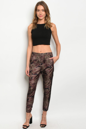 S13-3-4-P72008 BROWN CAMOUFLAGE PANTS 3-2-1