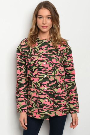 S6-10-3-J82429 NEON PINK CAMOUFLAGE JACKET 3-2-1