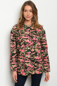 S15-10-3-J82429 NEON PINK CAMOUFLAGE JACKET 4-2-1