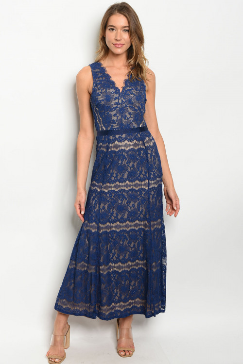 S11-11-4-D85460 NAVY NUDE DRESS 1-2-2-1