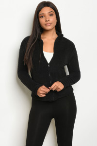 C31-B-1-J4793 BLACK FLEECE JACKET 2-1